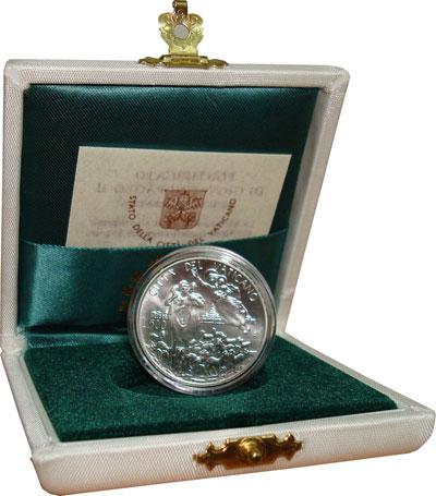 Изображение Подарочные монеты Ватикан Иоанн Павел 1996 Серебро UNC