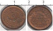 Изображение Мелочь Южная Америка Колумбия 5 сентаво 1901 Медно-никель XF