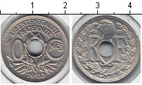 Изображение Мелочь Европа Франция 10 сантим 1933 Медно-никель XF
