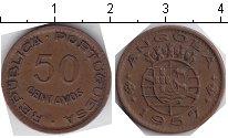 Изображение Монеты Африка Ангола 50 сентаво 1957 Медь XF