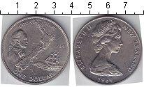 Изображение Мелочь Новая Зеландия 1 доллар 1969 Медно-никель UNC-