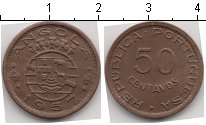 Изображение Монеты Ангола 50 сентаво 1957 Медь XF