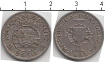 Изображение Монеты Мозамбик 2 1/2 эскудо 1954 Медно-никель