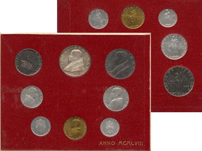 Изображение Подарочные монеты Европа Ватикан Выпуск 1958 года 1958  UNC