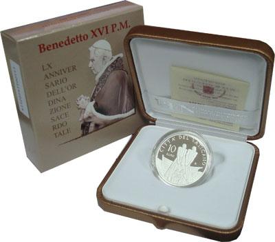 Изображение Подарочные монеты Европа Ватикан Бенедикт 2011 Серебро Proof