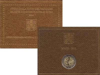 Изображение Подарочные монеты Европа Ватикан 2 евро 2011 Биметалл