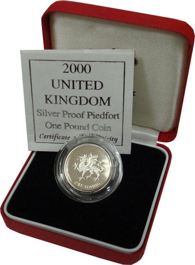 Изображение Подарочные монеты Великобритания 1 фунт 2000 Серебро Proof