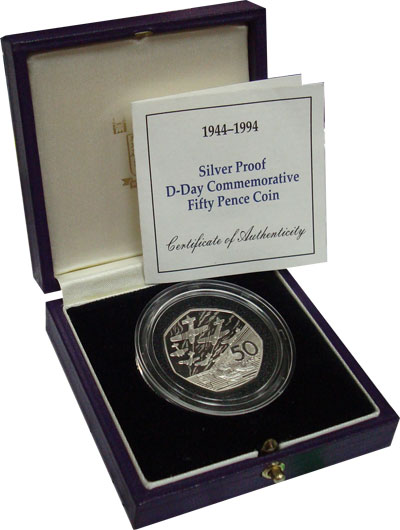 Изображение Подарочные монеты Европа Великобритания 50 пенсов 1994 Серебро Proof