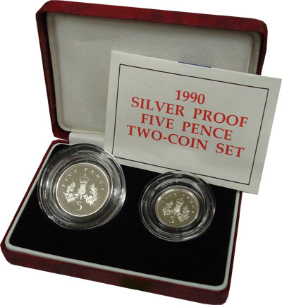 Изображение Подарочные монеты Великобритания Выпуск 1990 года 1990 Серебро Proof