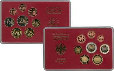 Изображение Подарочные монеты Германия Монеты 2003, Чеканка Мюнхен 2003  Proof