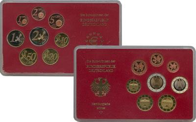 Изображение Подарочные монеты Европа Германия Монеты 2003 (чеканка Гамбурга) 2003  Proof