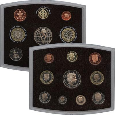 Изображение Подарочные монеты Европа Великобритания Набор 2001 года 2001  Proof