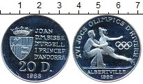 Изображение Монеты Европа Андорра 20 динерс 1988 Серебро Proof-