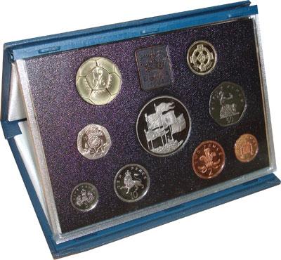 Изображение Подарочные монеты Европа Великобритания Набор 1996 года 1996  Proof