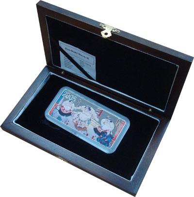Изображение Подарочные монеты Монголия Вид единоборств Японии 2005 Серебро Proof