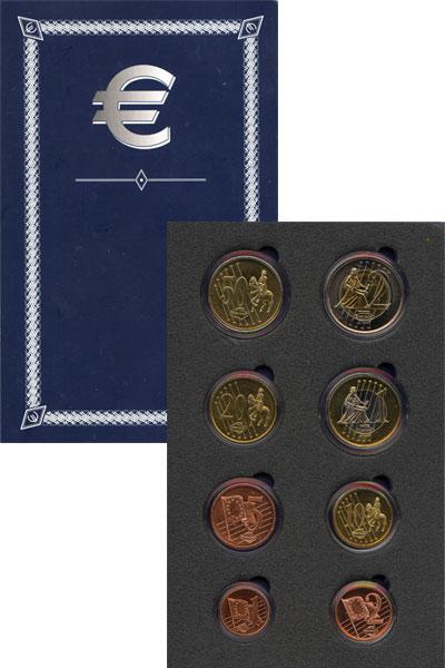 Изображение Подарочные монеты Европа Дания Пробный евро-набор 2003 2003  UNC