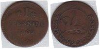Изображение Монеты Росток 1 пфенниг 1802 Медь VF