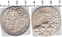 Изображение Монеты Финляндия 100 марок 1990 Серебро UNC