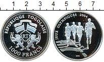 Изображение Монеты Того 1000 франков 2004 Серебро Proof-