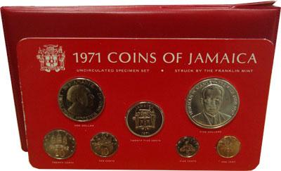 Изображение Подарочные монеты Северная Америка Ямайка Выпуск 1971 года 1971  UNC