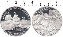 Изображение Мелочь США 1 доллар 2007 Серебро Proof Парусники