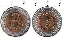 Изображение Мелочь Португалия 100 эскудо 1995 Биметалл UNC 50 лет образования Ф