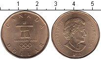 Изображение Мелочь Канада 1 доллар 2010 Медь UNC- Зимняя олимпиада в В