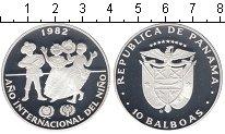 Изображение Монеты Панама 10 бальбоа 1982 Серебро Proof-