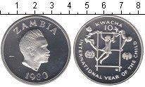 Изображение Монеты Замбия 10 квач 1980 Серебро Proof- Международный год ре