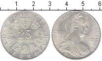 Изображение Мелочь Европа Австрия 25 шиллингов 1967 Серебро UNC-
