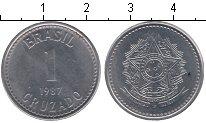 Изображение Мелочь Южная Америка Бразилия 1 крузадо 1987 Медно-никель UNC-