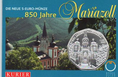 Изображение Подарочные монеты Европа Австрия 850- летие Мариацелля 2007 Серебро UNC