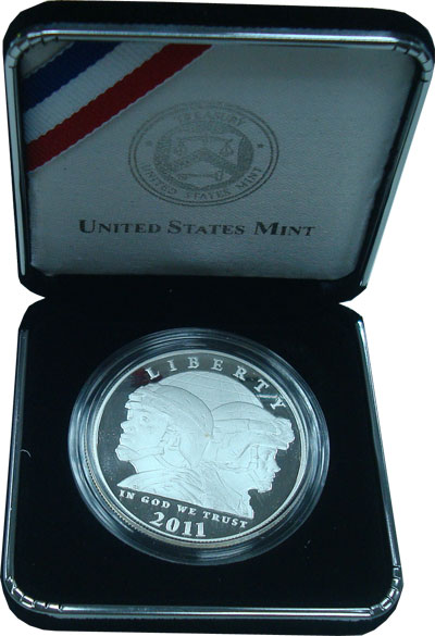 Изображение Подарочные монеты Северная Америка США Памятный пруф-доллар 2011 Серебро Proof