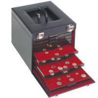 Изображение Аксессуары для монет Кейсы Кожаный кейс на 10 планшетов  (337656) 0   ST04B!!!!!! Кейс ра