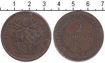 Изображение Монеты Ватикан 2 байоччи 1850 Медь
