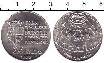 Изображение Мелочь Андорра 25 сентим 1995 Медно-никель UNC-