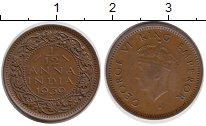 Изображение Мелочь Индия 1/12 анны 1930 Медь XF Георг V