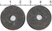 Изображение Мелочь Франция 20 сантим 1941 Цинк  Правительство Виши
