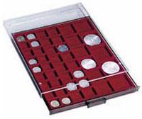 Изображение Аксессуары для монет Квадратные ячейки Leuchtturm (Германия) Планшет на 45 квадратных ячеек - Ø разный MIX (316902) 0