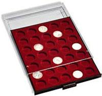 Изображение Аксессуары для монет Круглые ячейки Leuchtturm (Германия) Планшет на 63 круглые ячейки - Ø капсулы 19мм (№306702) 0