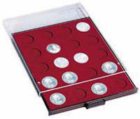 Изображение Аксессуары для монет Круглые ячейки Leuchtturm (Германия) Планшет на 20 круглых ячеек - Ø капсулы 42мм (327498) 0