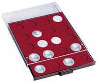 Изображение Аксессуары для монет Круглые ячейки Leuchtturm (Германия) MB30 Планшет на 30 круглых ячеек - Ø монеты 39мм (318127) 0