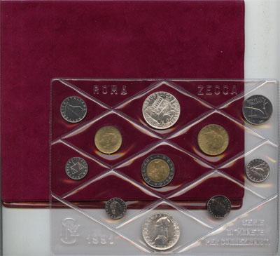Изображение Подарочные монеты Европа Италия Выпуск монет 1991 года 1991  UNC