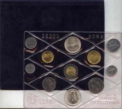 Изображение Подарочные монеты Европа Италия Выпуск монет 1988 года 1988  UNC