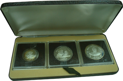 Изображение Подарочные монеты Великобритания Теркc и Кайкос Луис Маунтбеттен 1980 Серебро Proof-