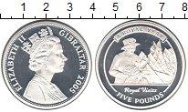 Изображение Монеты Гибралтар 5 фунтов 2005 Серебро Proof- Елизавета II