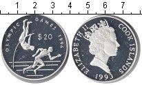 Изображение Монеты Острова Кука 20 долларов 1993 Серебро Proof