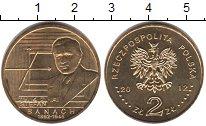 Изображение Мелочь Польша 2 злотых 2012 Латунь UNC- Стефан Банах