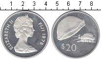 Изображение Монеты Фиджи 20 долларов 1978 Серебро Proof-
