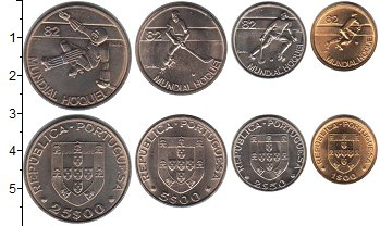 Изображение Наборы монет Португалия Португалия 1983 1982  UNC-